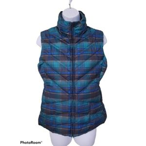 Patagonia Plaid Down Puffer Vest - Women's